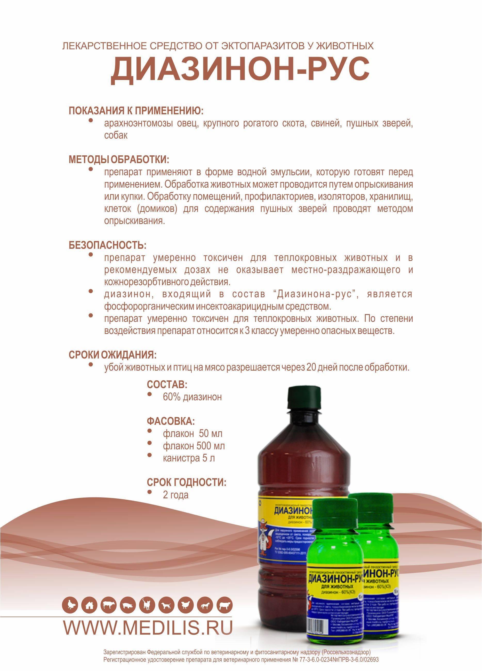 Инсектицид диазинон: химический состав и вред для человека.