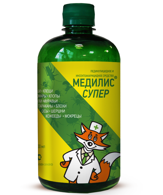 Медилис-СУПЕР (инсектоакарицид) (флакон 500 мл, Гофрокороб, 20)