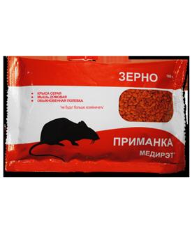 Медирэт-ПРИМАНКА (родентицид) (зерно пакет 100 гр, Гофрокороб, 50)